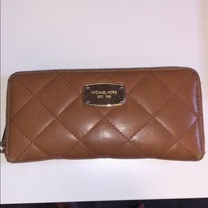 Michael Kors quilted leather  continental wallet